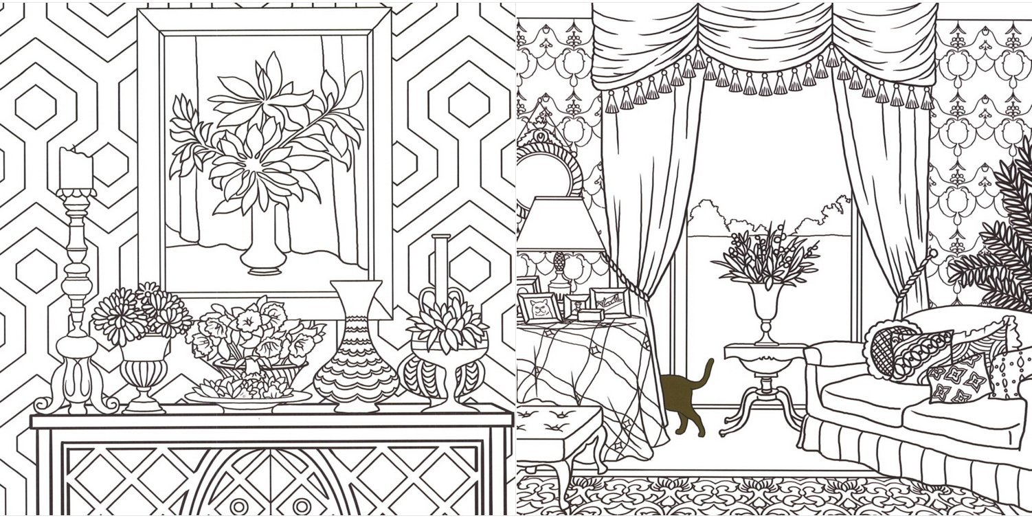 Welcome To The Doll House Coloring Book For Adults Fun Relax 1 Free Gift Giraffe Bookmark Park 9791155783665 Amazon Books
