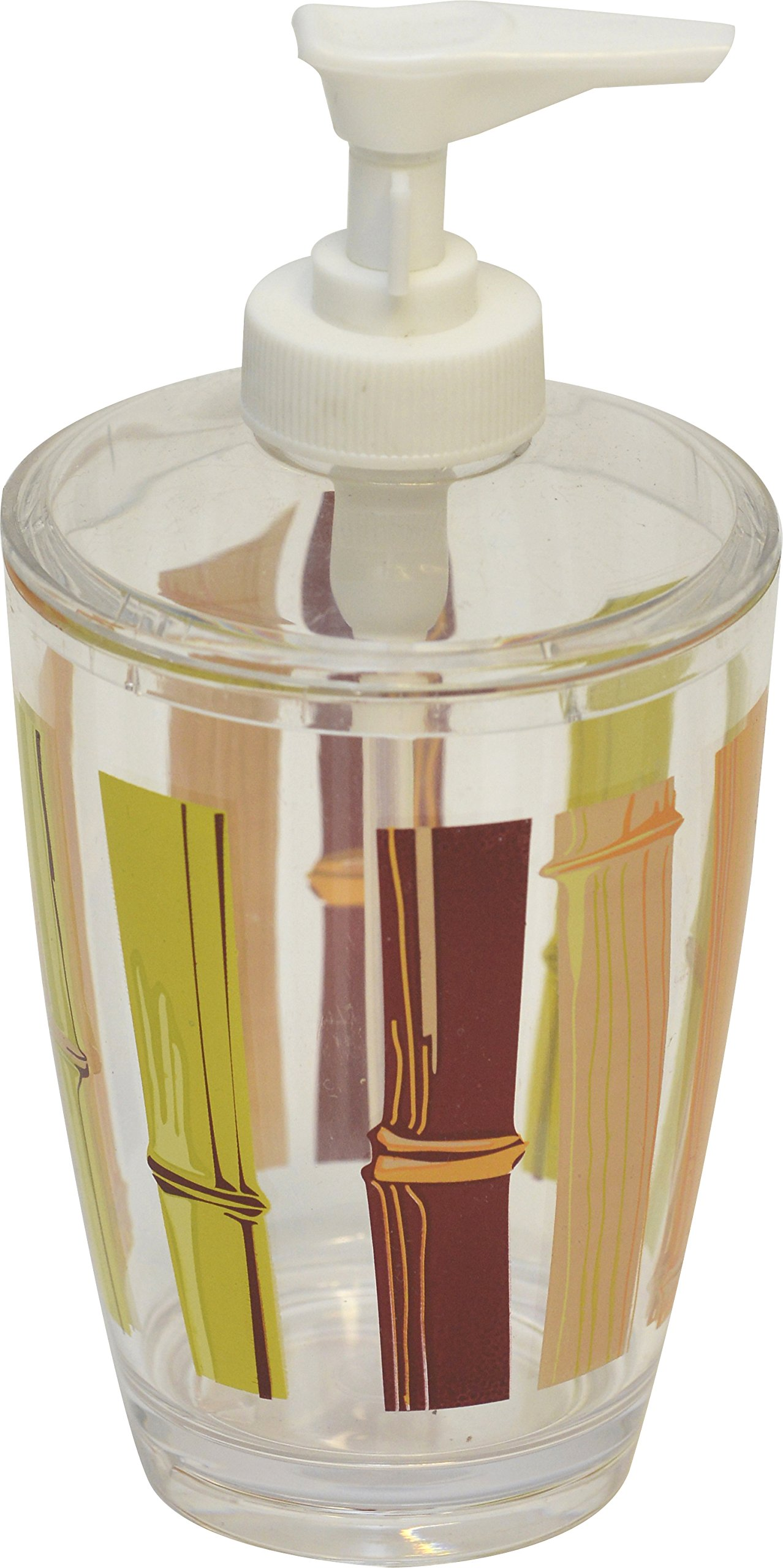 EVIDECO 6200384 Java Clear Acrylic Printed Bathroom Soap and Lotion Dispenser by EVIDECO
