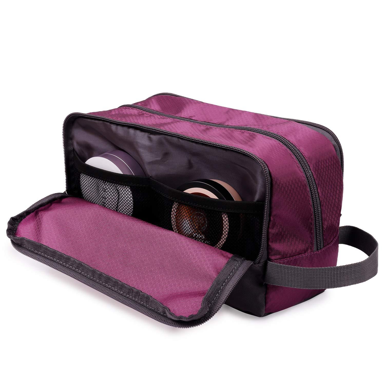 Malachite Green Toiletry Bag Small Nylon Dopp Kit Lightweight Shaving Bag for Men and Women