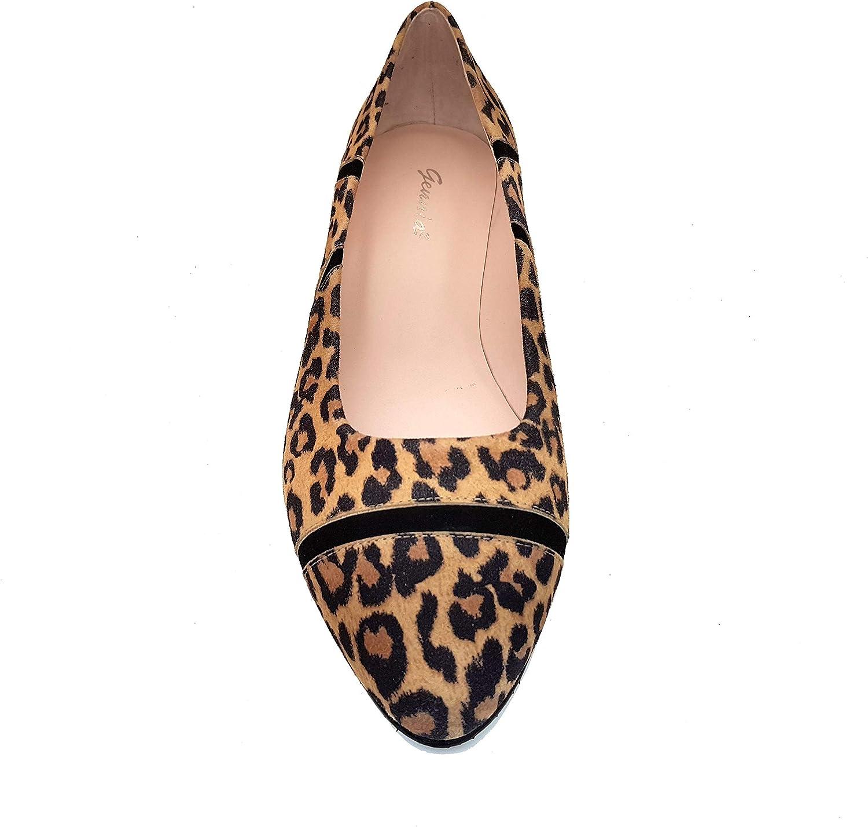 GENNIA Moda Zapatos Planos Casual Bailarinas Planas Estilosas de Vestir para Mujer en Piel con Punta Fina Redondeada BURBA Hechos en Espa/ña