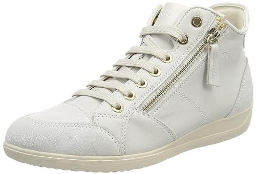Geox D Myria C, Sneaker a Collo Alto Donna