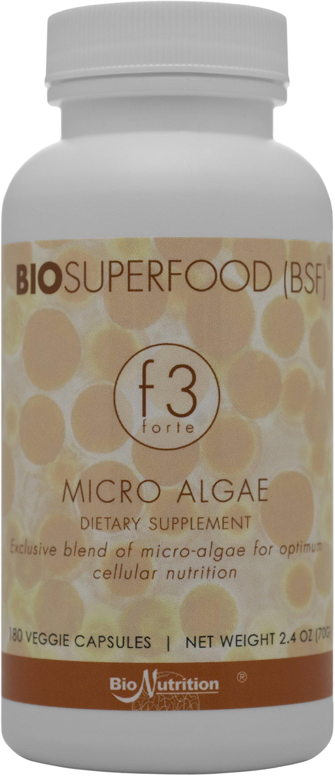 Biosuperfood F3 Forte Micro Algae (180 Veg Capsules)