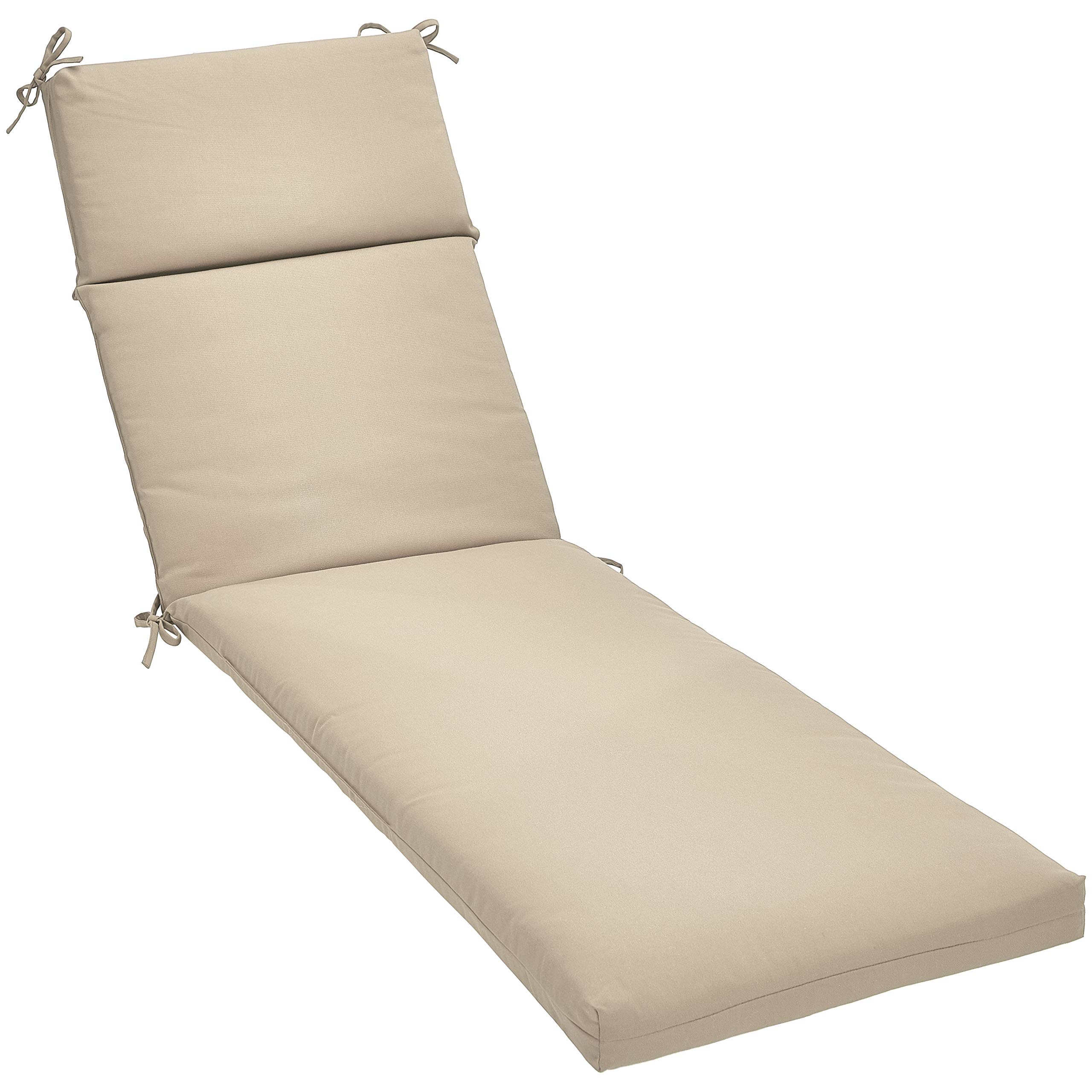 AmazonBasics Lounger Patio Cushion- Poly Batting - Tan