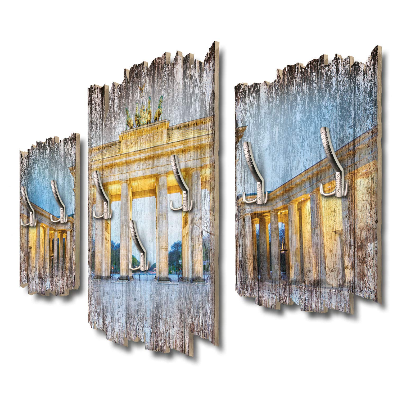 Kreative Feder Brandenburger Tor Designer Wandgarderobe Flurgarderobe Wandpaneele 95 x 60 cm aus MDF DTGH049
