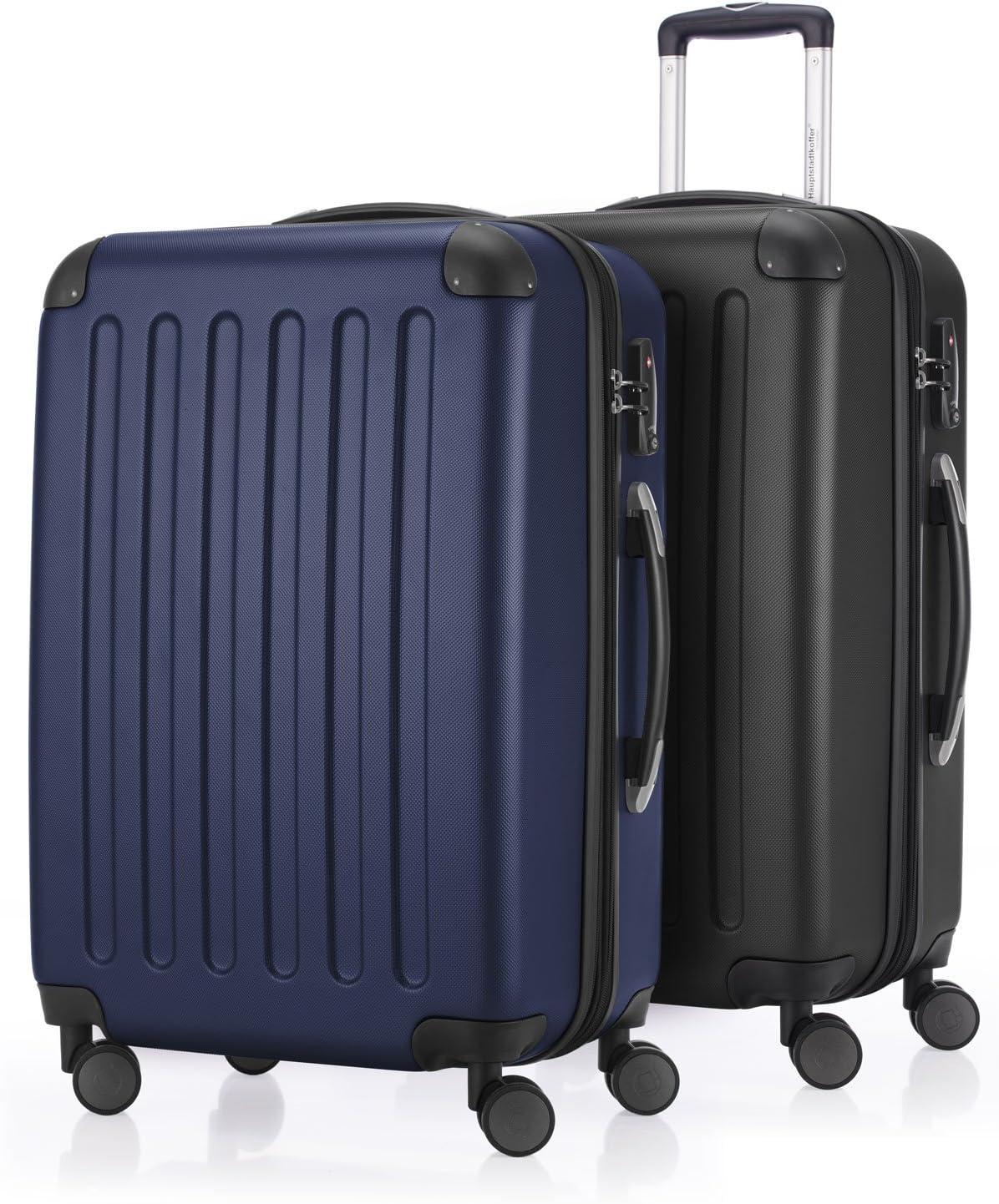 HAUPTSTADTKOFFER  Juegos de maletas, 65 cm, 82 L, Negro / Azul marino