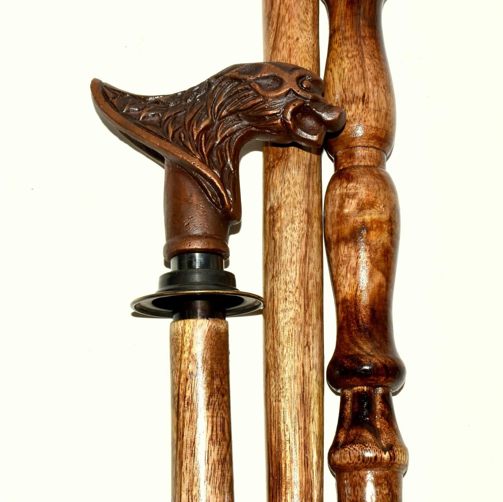 Hello Nauticals Store Vintage Designer Handle Antique Style Victorian Cane Wooden Walking Stick....VJGHGFTR