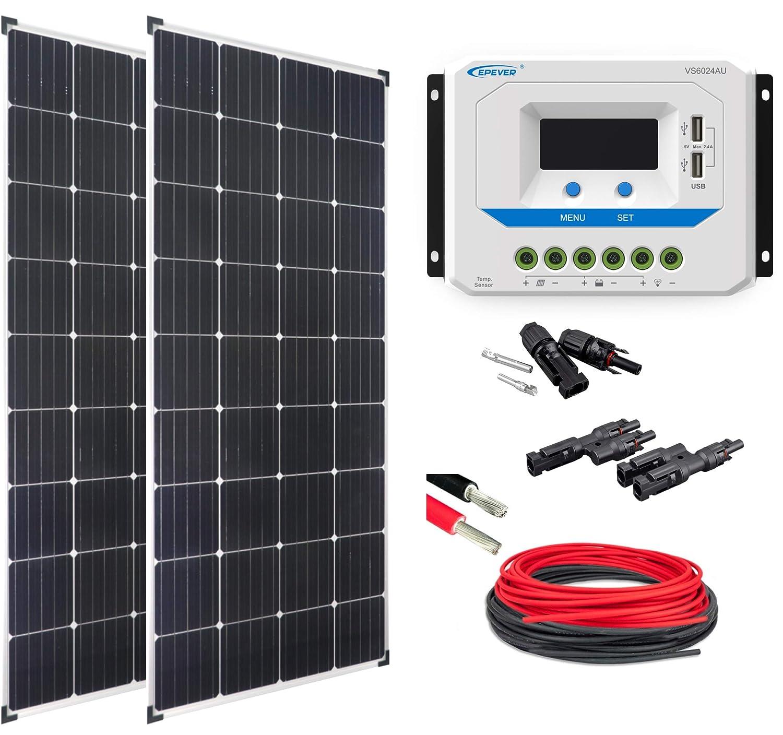 Enjoysolar® solare Set Basic Set 2  Mono 150 Watt vs6024au ideale per e-Bike ricarica