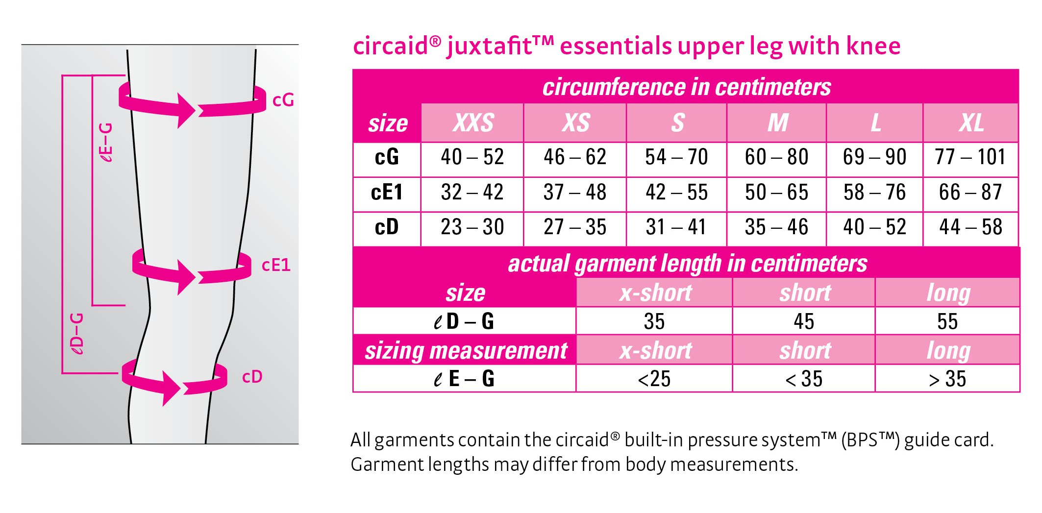 Circaid Juxta Fit Essentials Long Upper Legging with Knee, 55 cm (XL (Left)) by CircAid (Image #2)