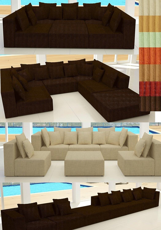 Modell Hollywood In Cord Designer Wohnlandschaft 6 Luxusteile 14