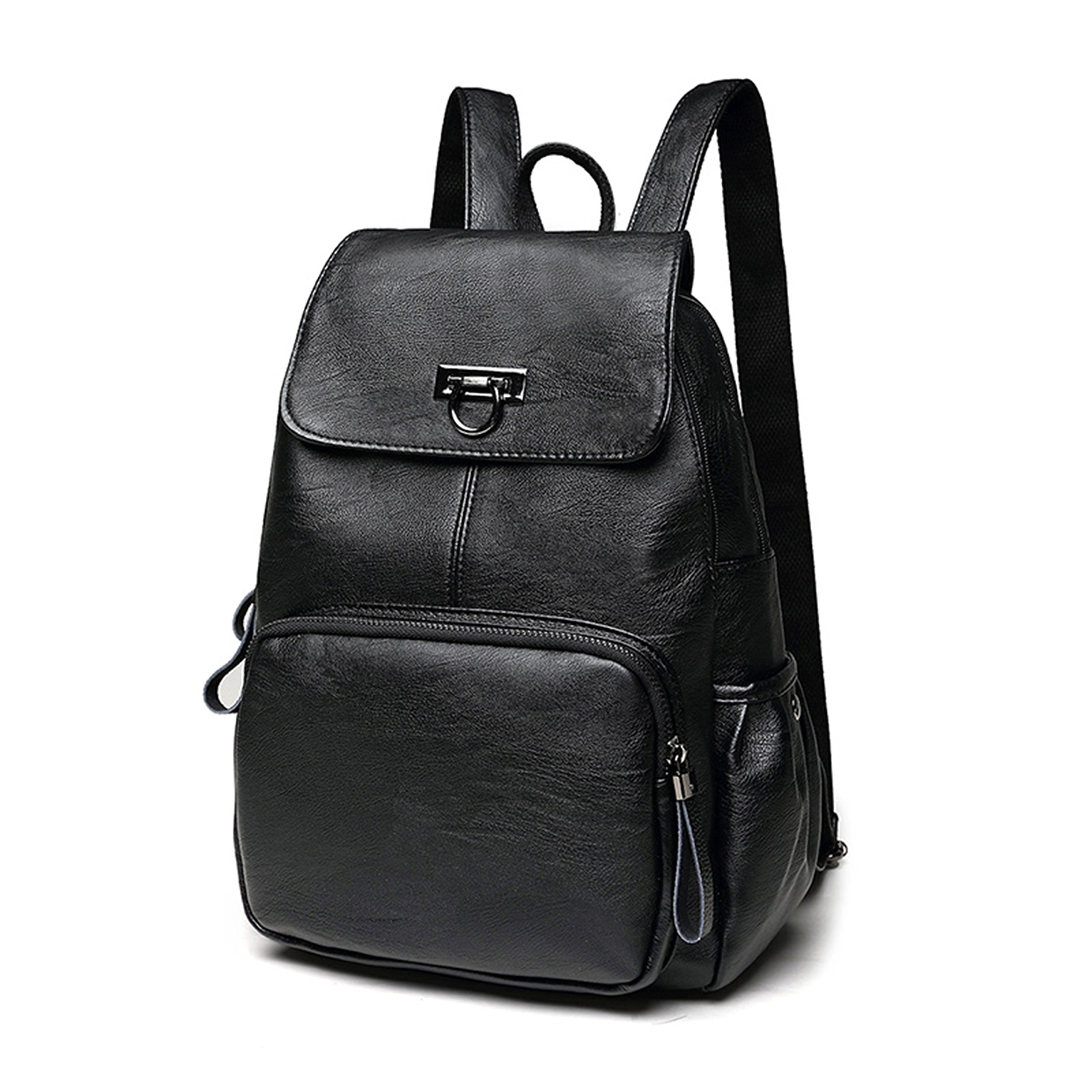 FIGROL Leather Backpack Fashion Mini School Handbag Stylish Lovely for Women, Ladies and Girl