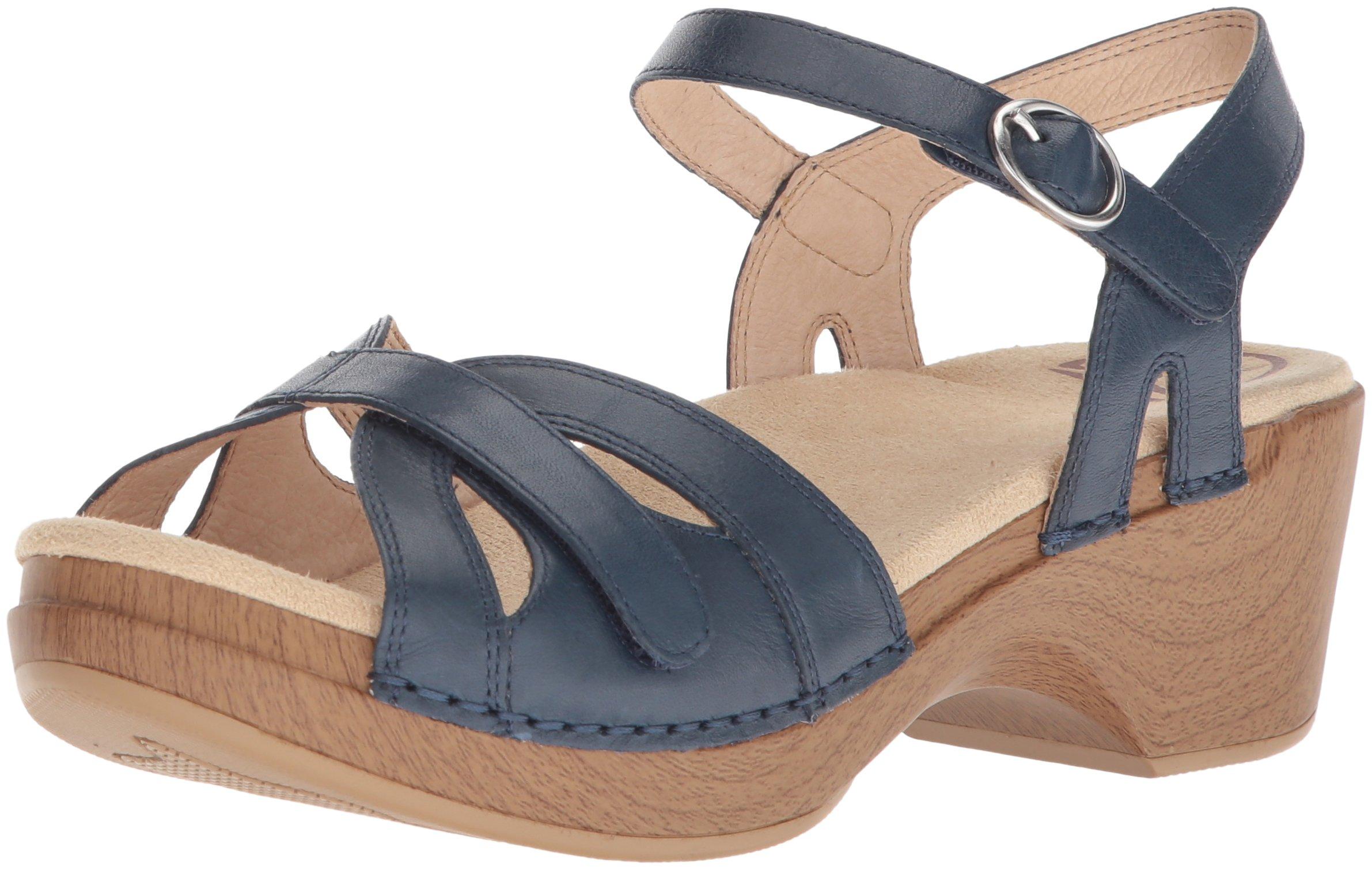 Dansko Women's Season Flat Sandal, Denim Full Grain, 39 M EU (8.5-9 US)