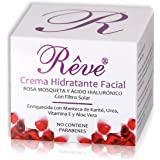 REVE Crema Hidratante Facial con Rosa Mosqueta - Vitamina E - Ácido Hialurónico - FPS15 - Regeneradora Celular - Hombre…
