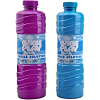 Bubble Play 64oz Bubble Refill Pack - Jumbo Supply Includes [2] 32oz Bottles of High Concentrate, Non Toxic Solution for…