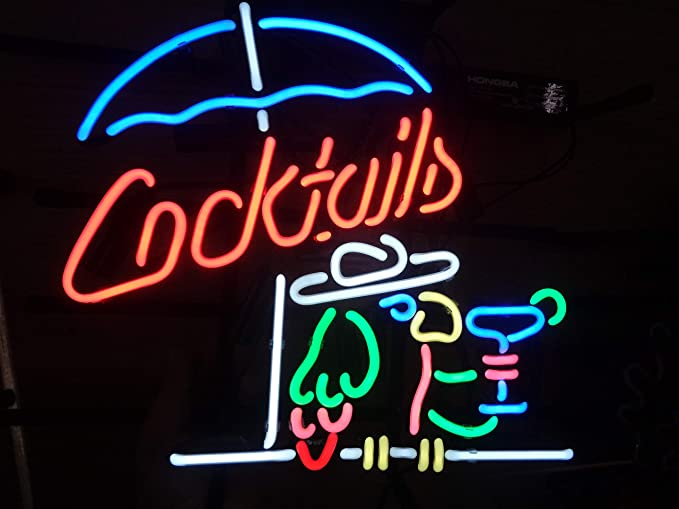 3f400d0a2d Cocktails Metal Frame Neon Sign 17 quot x13 quot  Real Glass Neon Sign Light  for Beer