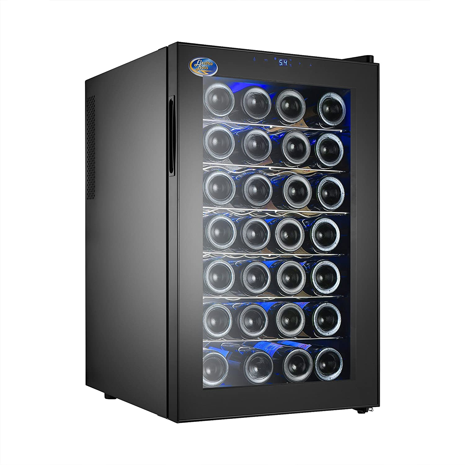 Electro Boss 5325 Wine Cooler Black Refridgerator, 28 Bottles 5325 Wine Cooler 28 Black