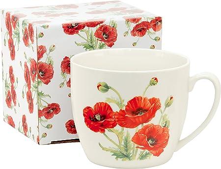 Duo Jumbo Tasse Xxl Kaffee Becher Kaffeetasse Porzellan Teetasse Geschenk Tasse Trinkbecher Mug 750 Ml Geschenkbox Mohnblume Amazon De Kuche Haushalt