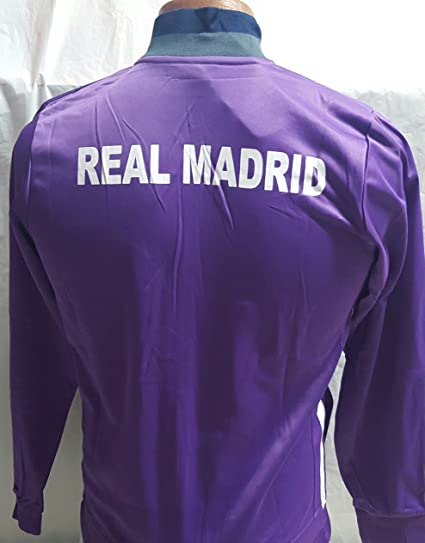 Nueva chamarra de Real Madrid púrpura adulto grande  Amazon.com.mx   Deportes y Aire Libre cb5b74c91c6d5