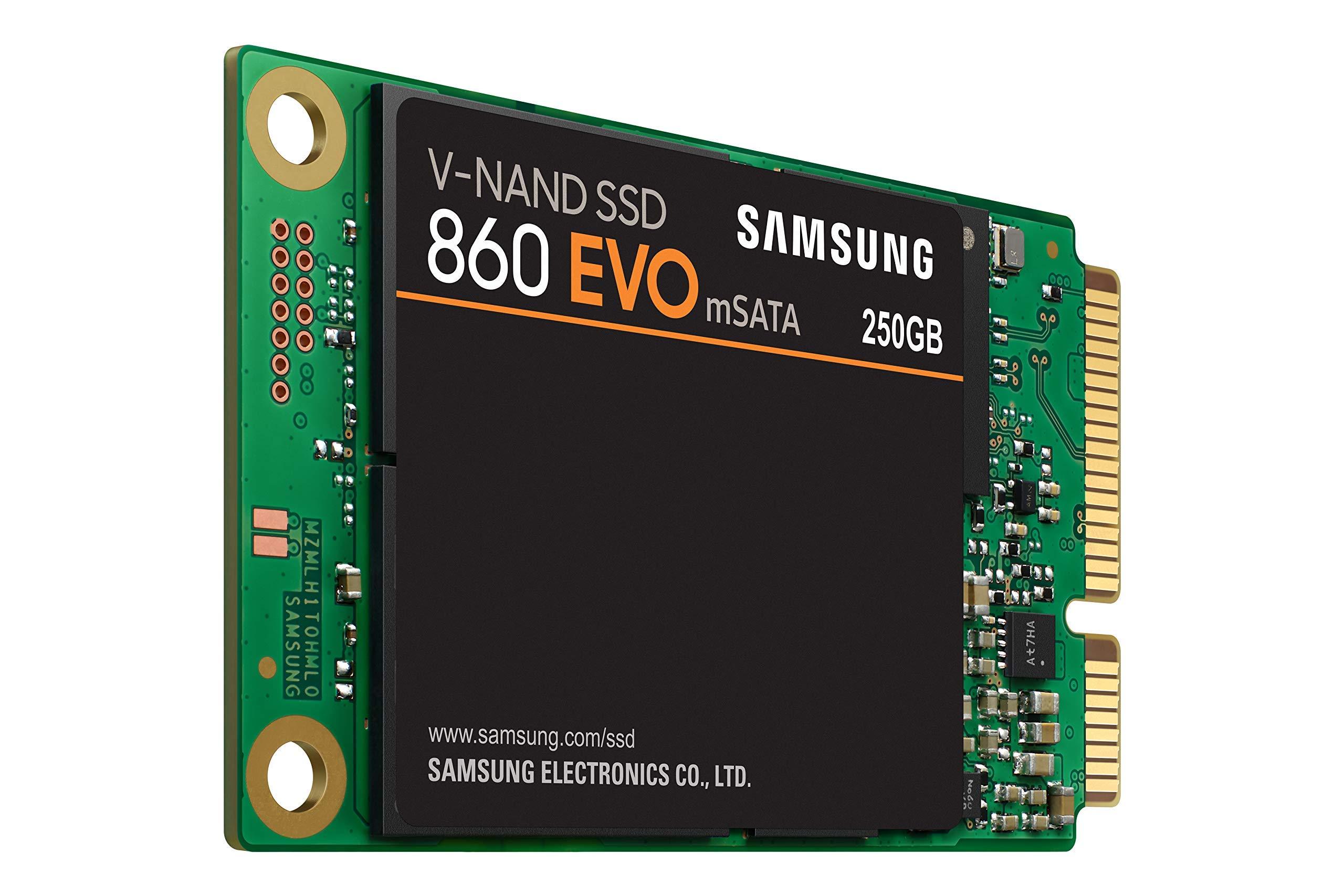 Samsung 860 EVO 250GB mSATA Internal SSD (MZ-M6E250BW) (Renewed)