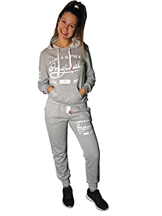 e25db8af24 James and Paul Women Ladies Tracksuits Sets Plus Size Tracksuits Women  Sports Tops Hoodies and Pants SML XL XXL Full Jogging Sets Sweatshirt + ...