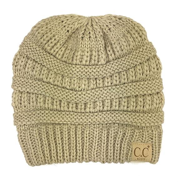 Amazon.com: Chunky de espesor elástico Knit Slouch – Gorro ...