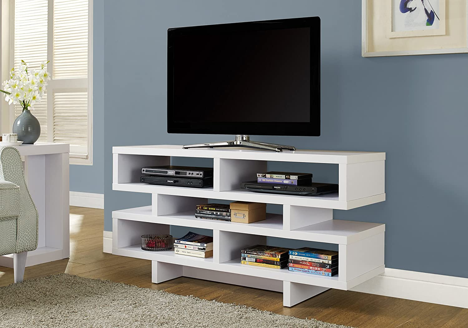 Monarch Specialties , TV Console, White, 48 L