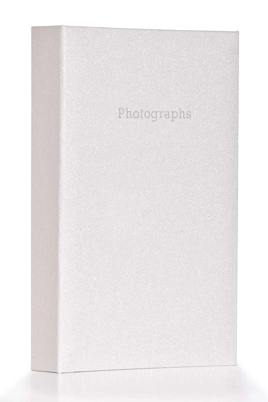 Large Silver Glitter Bling Memo Slip In Photo Album 300 6 x 4 Photos