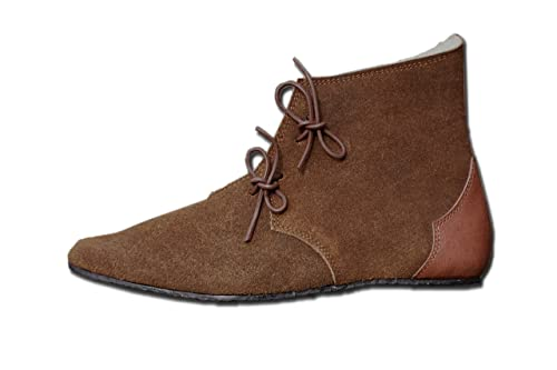 CP-Schuhe Mittelalter Schuhe Halbstiefel aus Rauhleder  Amazon.de ... d420e27839