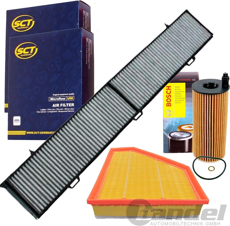 Filterset Inspektionspaket 1 Filter Innenraumluft Aktivekohle 1 Luftfilter 1 Oelfilter Auto