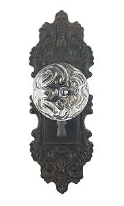 Decorative Pewter Wall Hook, Vintage Door Knob Style (Brown/Black), 1 Piece