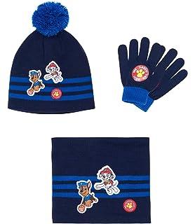 Pat  Patrouille Ensemble 3 pièces   écharpe, bonnet et gants bleu marine 4cd1ae951e0