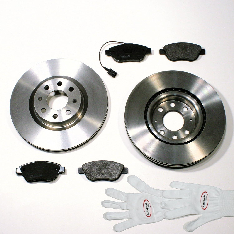 Autoparts-Online Set 60006469 Bremsscheiben Ø 257 mm/Bremsen + Bremsbeläge + Warnkabel Vorne