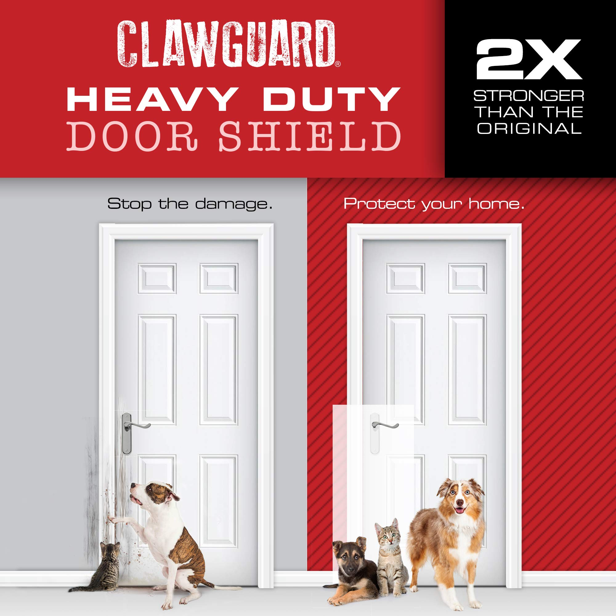 CLAWGUARD Heavy Duty Big Dog Scratch Shield - Ultimate Door, Frame & Wall Protection by CLAWGUARD