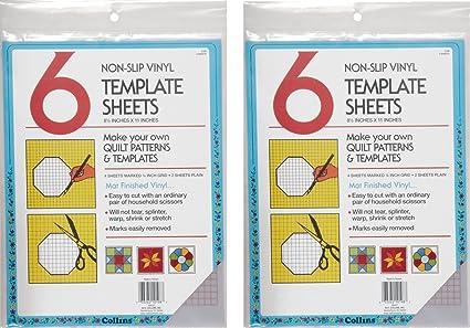 amazon com collins col198 6 count non slip vinyl template sheet