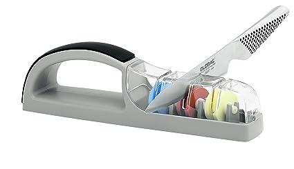 Mino Sharp 550BG Plus - Afilador para 3 cuchillos, color gris y negro