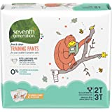 Seventh Generation Toddler Potty Training Pants, Free & Clear, Medium Size 2T-3T up to 35lbs, 100 count (Packaging May Vary)