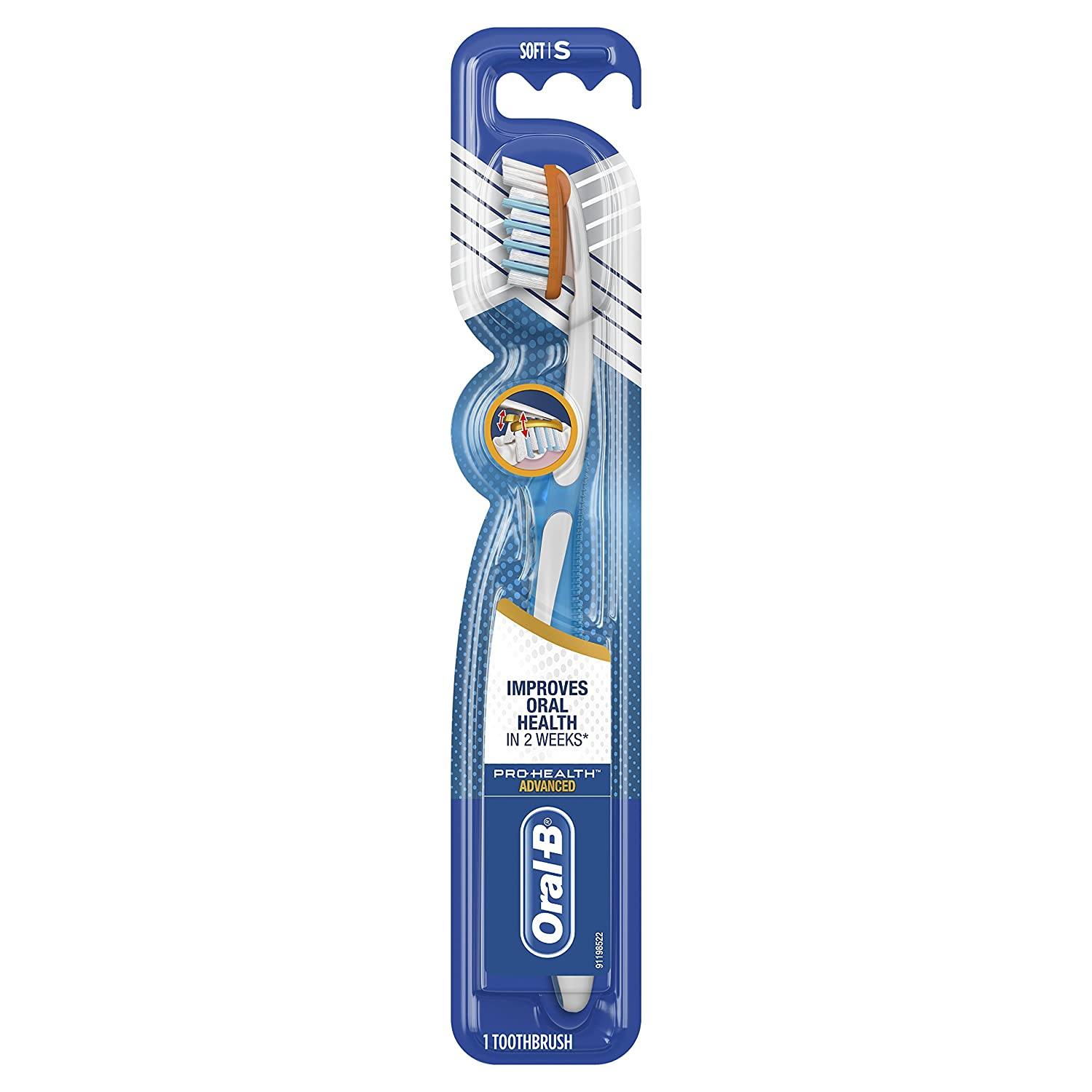 Oral-B Pro-Health Advanced Toothbrush, 1 Count Soft (Pack of 12)