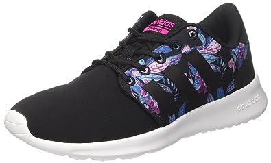 reputable site b39b6 a90a3 adidas Cloudfoam Qt Racer W, Sneaker Basses Femme , Noir (Negbas negbas