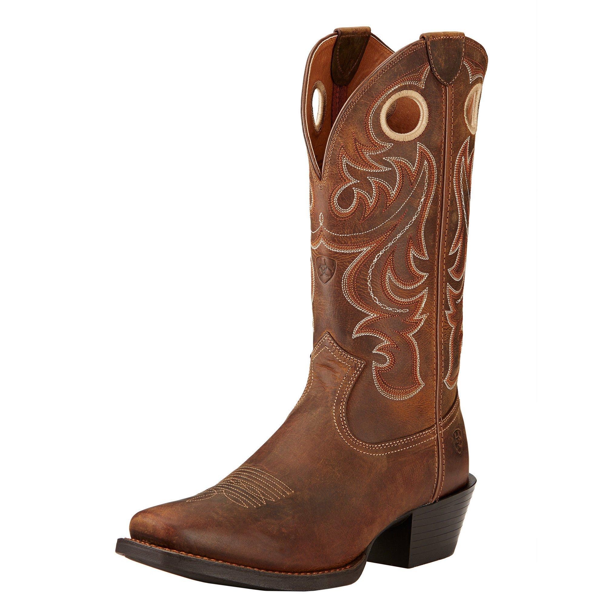 Ariat Men's Sport Square Toe Western Cowboy Boot, Powder Brown, 12 2E US
