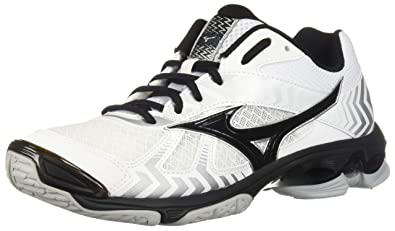 Mizuno (MIZD9) Wave Bolt 7 Volleyball Shoes, White/Black Mens 7 D