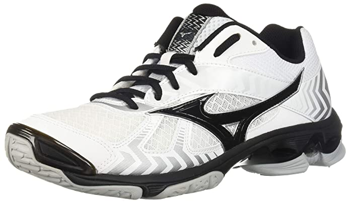 Amazon.com | Mizuno (MIZD9) Wave Bolt 7 Volleyball Shoes, White/Black Mens 7 D US | Volleyball