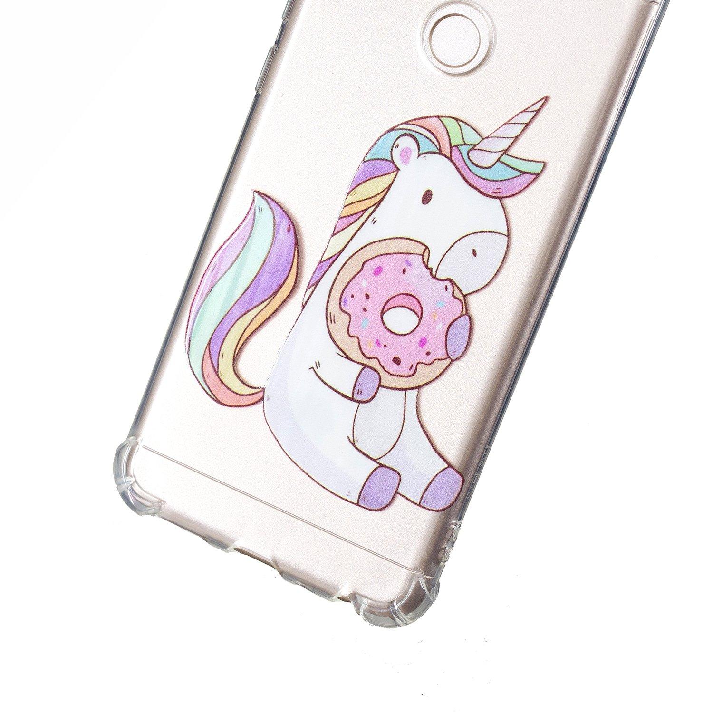 ChoosEU Souple Coque pour Huawei P Smart 2018 Silicone Motif Swag pour Filles Femmes Homme Etui Soft /Étui Ultra Fine Antichoc Housse Mince Case Protection Lion