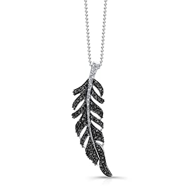 Amazon victoria kay 110ct white diamond feather pendant in victoria kay 110ct white diamond feather pendant in sterling silver j k i2 aloadofball Images