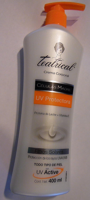 Amazon.com: Teatrical Crema UV Protectora (Proteina de Leche + Vitamina E): Beauty