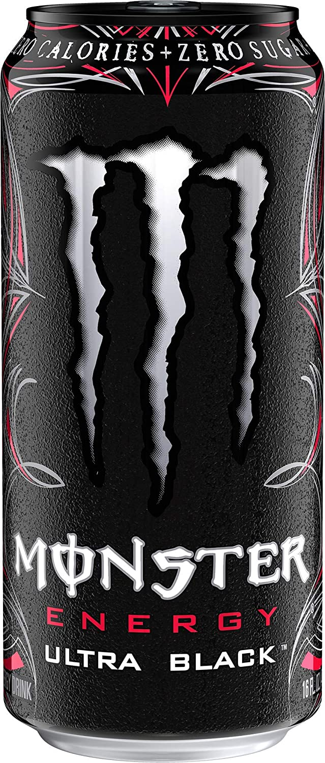Amazon Com Monster Energy Ultra Black Sugar Free Energy Drink 16 Ounce Sports Outdoors