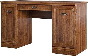 Better Homes & Gardens Dean Double Pedestal Desk Cherry Oak