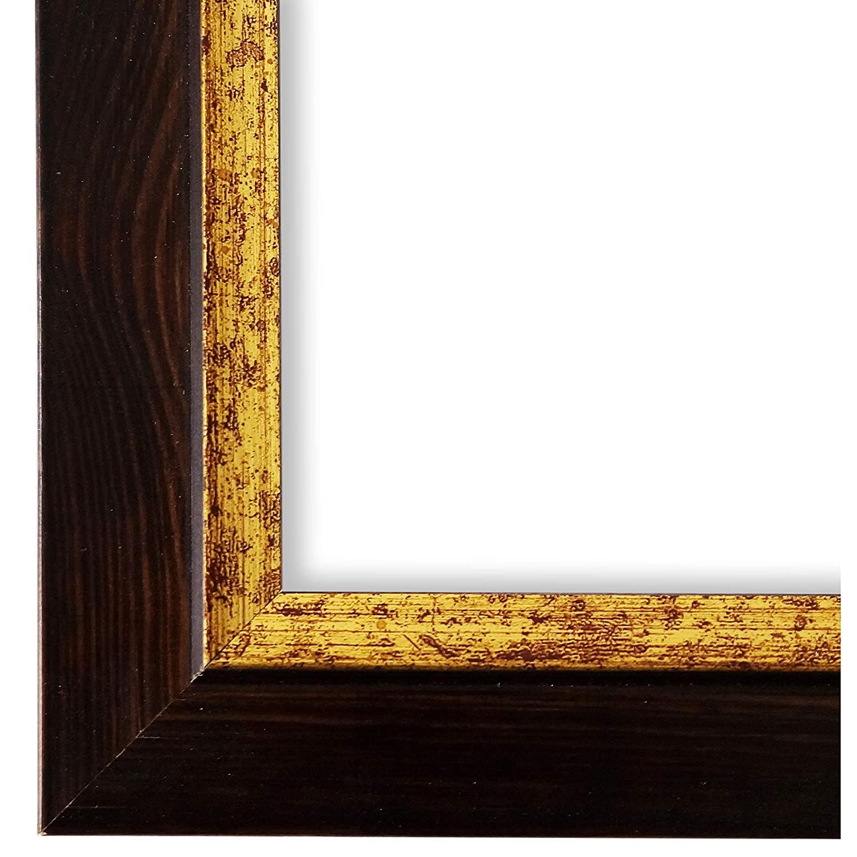 Online Galerie Bingold Bilderrahmen Schwarz Braun Gold 30x30-30 x 30 cm - Modern, Shabby, Vintage - Alle Größen - Handgefertigt - in Deutschland - WRU - Catanzaro 3,9