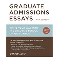 Graduate Admissions Essays, Fourth Edition^Graduate Admissions Essays, Fourth Edition