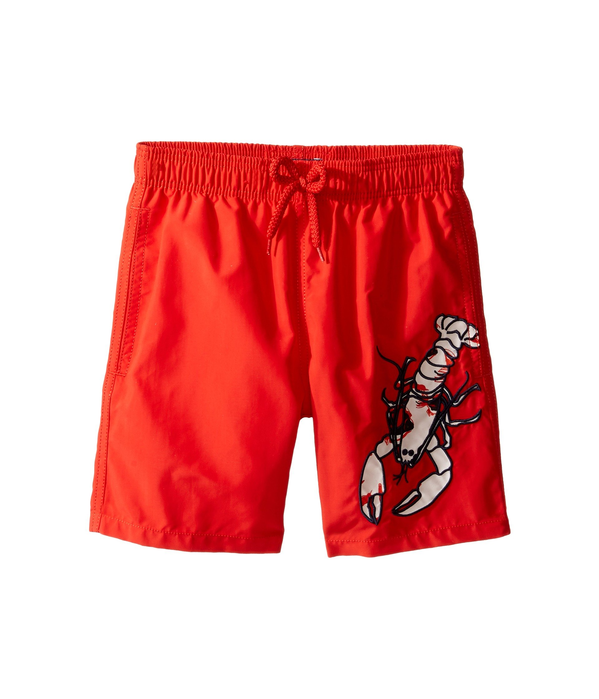 Vilebrequin - Lobster Embroidery Boy Swimwear  - Boys - 10 years - Poppy by Vilebrequin