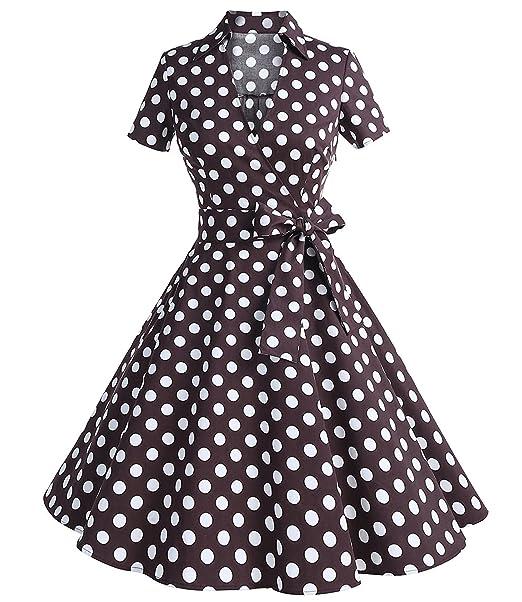zaful vestido vintage años 50 S estilo Audrey Hepburn Rockabilly Swing Vestido De Fiesta (