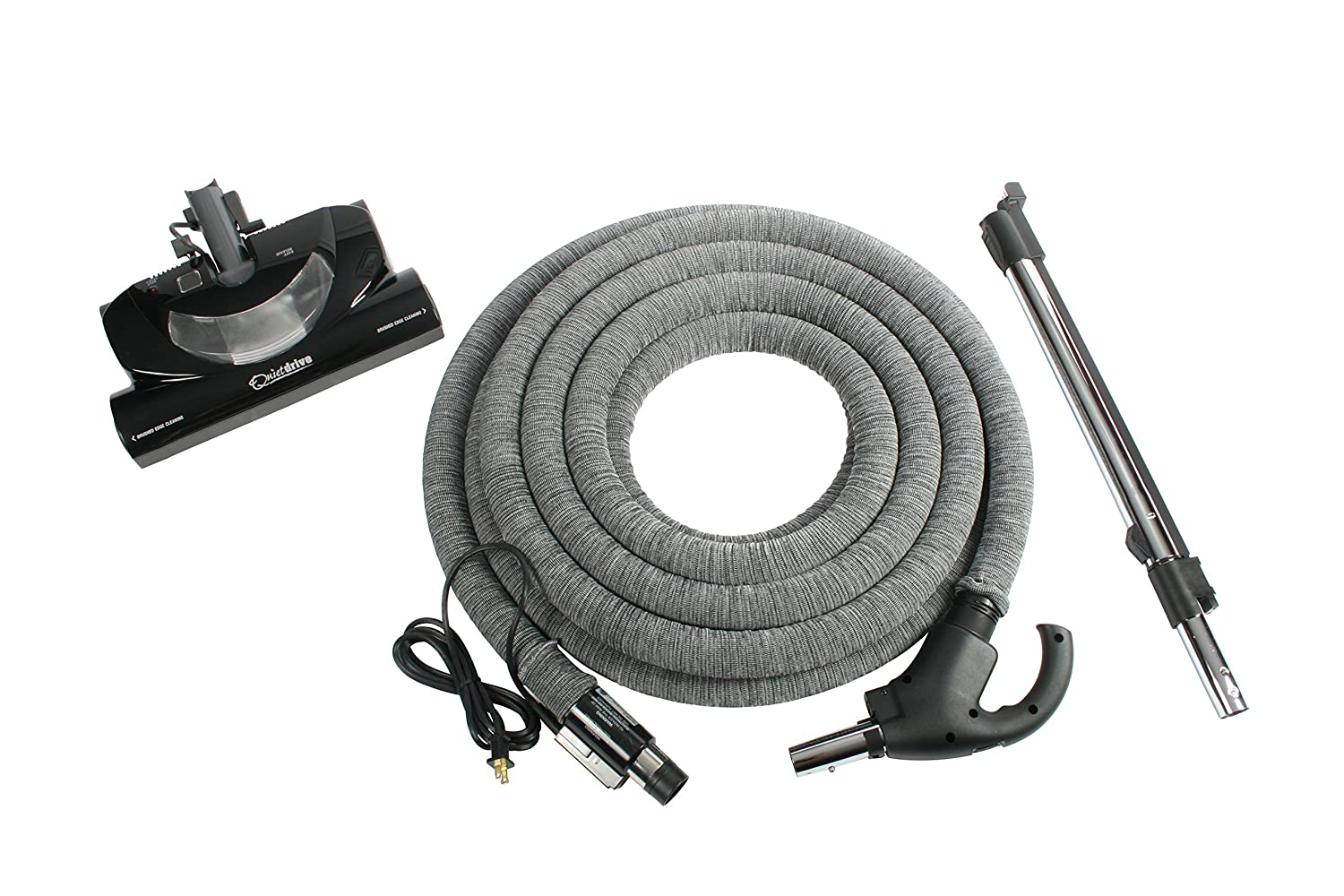 Cen-Tec Systems Central Vacuum 35' Hose Kit with CT20QD